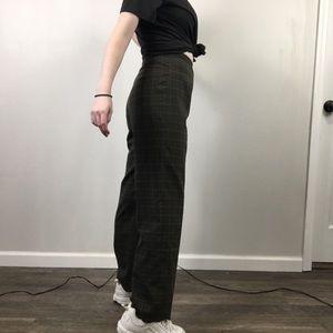 Vintage Plaid High Rise Trousers